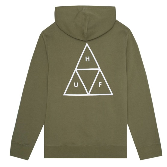 huf hoodie essentials triple triangle