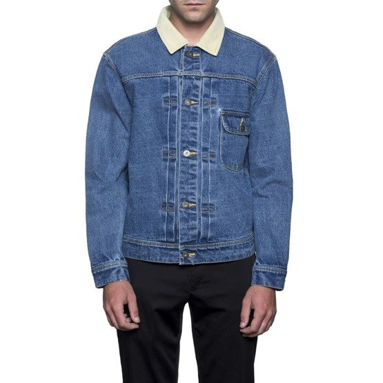 huf jacke brooklyn denim blue