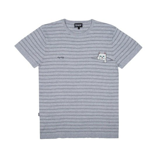 lord normal peeking nermal jacquard knit tee black/grey