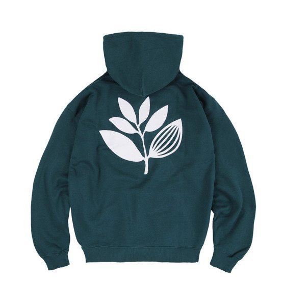 magenta classic plant hoodie teal