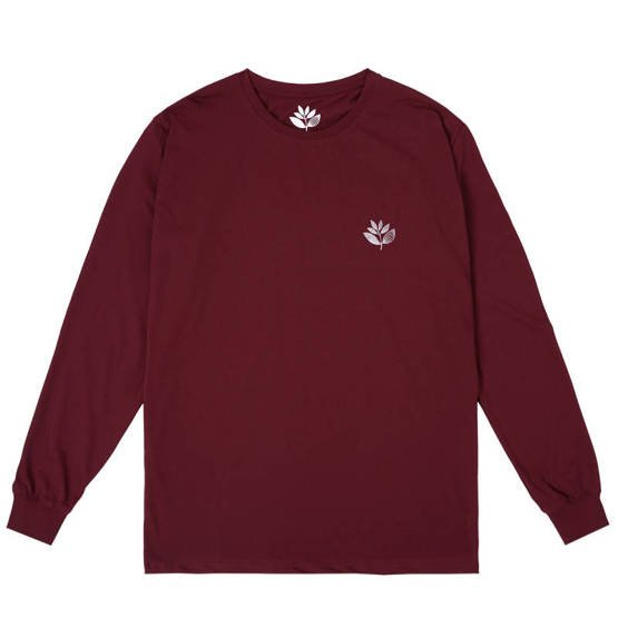magenta skateboards POINTS PLANT L/S TEE - WINE
