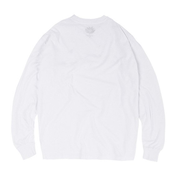 magenta skateboards leap l/s tee white