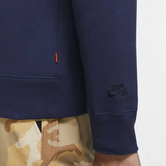 nike sb Crewneck Navy Orange Label ISO