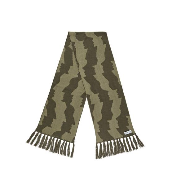polar Faces Scarf - Olive
