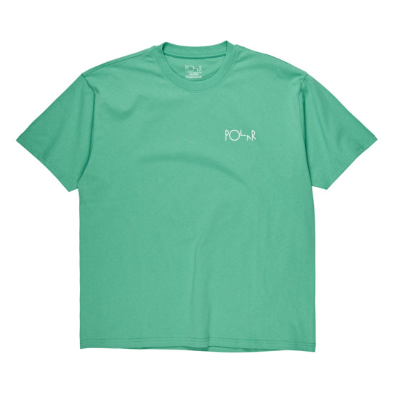 polar fill logo tee green/dark green