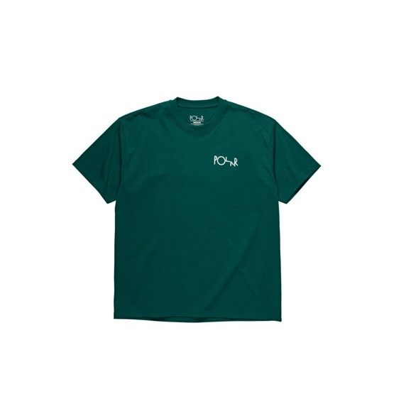 polar stroke logo tee dark green