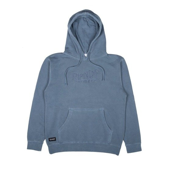 ripndip great wave of nerm pullover hood baby blue