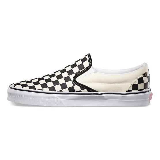 vans classic slip on black/white chckr