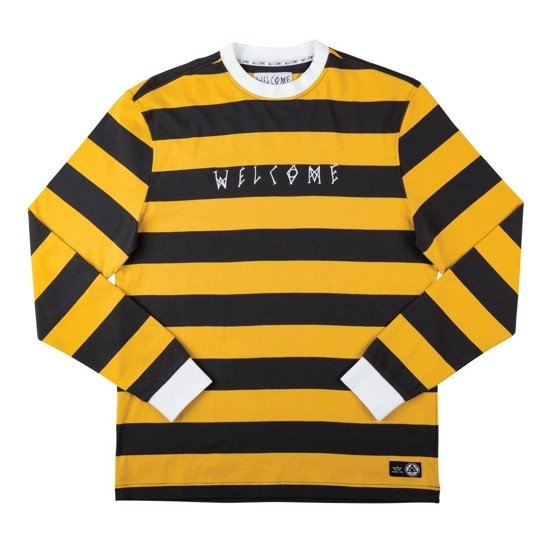 welcome Big Beautiful Stripe Tee (Black/Gold)