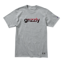 Grizzly Lowercase Fadeaway Champion T-Shirt Heather Grey