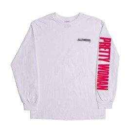 alltimers pretty woman ls tee white