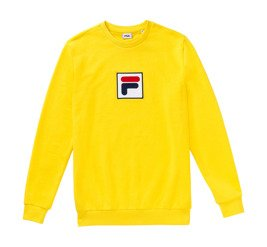 fila rian crew sweat yellow