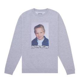 fucking awesome Vincent class photo crewneck grey