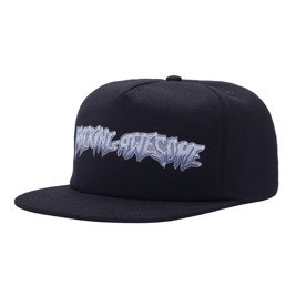 fucking awesome chrome 5-panel cap black 7.25