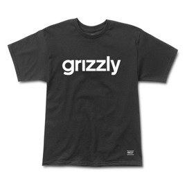 grizzly lowercase logo tee black
