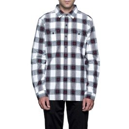 huf hemd plantlife plaid black