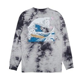 ripndip great wave longsleeve grey tie-dye