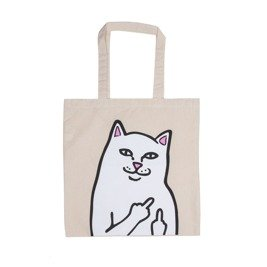 ripndip lord nermal canvas tole bag natural