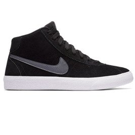 shoes  women's nike sb bruin hi black/dark grey-white