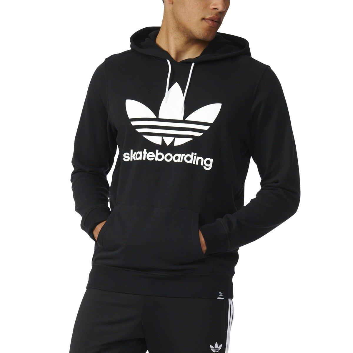 bluza adidas black skateboarding zip