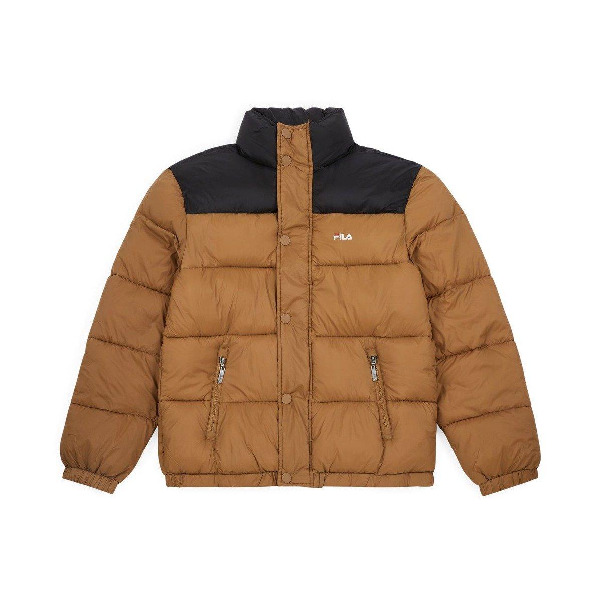 kurtka fila raith puff jacket camel