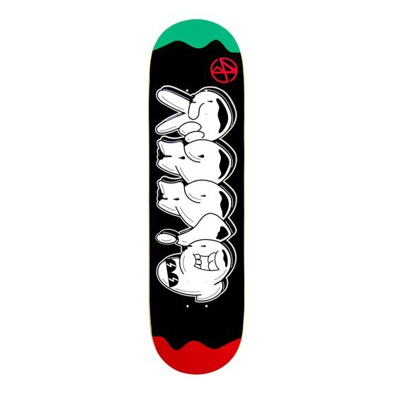 DESKA BIZZY - THROW UP 2 RED/GREEN HIGH-CONCAVE