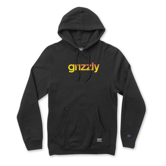 bluza Grizzly Champion Lowercase Fadeaway Hoodie Black