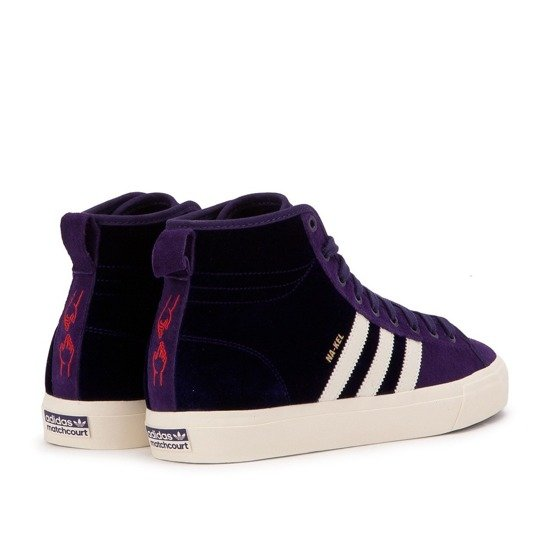 buty adidas matchcourt high rx2 (dark purple) Na-Kel Smith