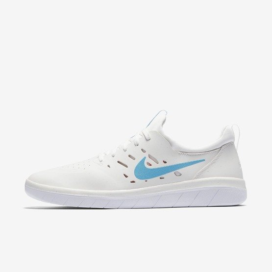 buty nike sb nyjah free  summit white/lt blue fury-solar red