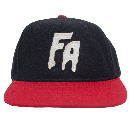 czapka fucking awesome hat wool black/red