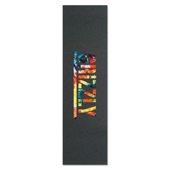 grizzly t-puds stamp print griptape in orange tie-dye