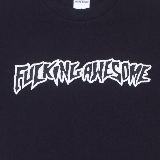 koszulka fucking awesome puff outline logo tee black
