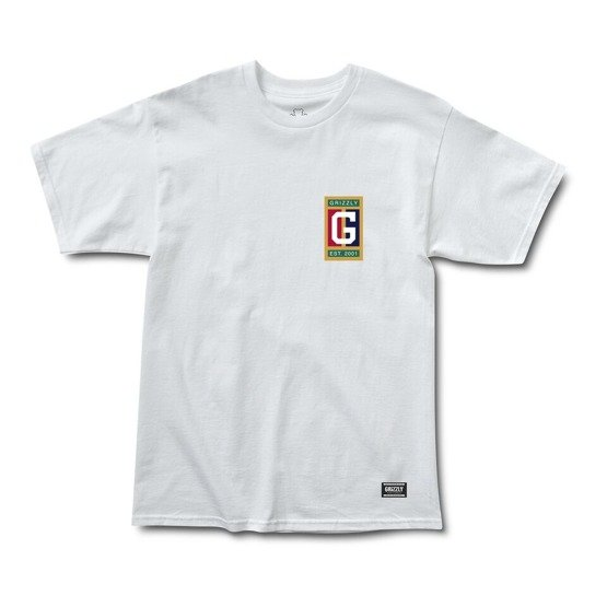 koszulka grizzly off the court s/s tee white