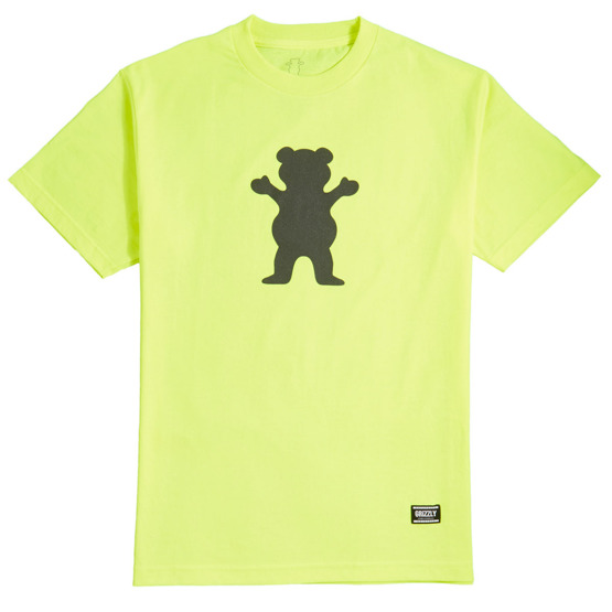 koszulka grizzly safety bear tee neon