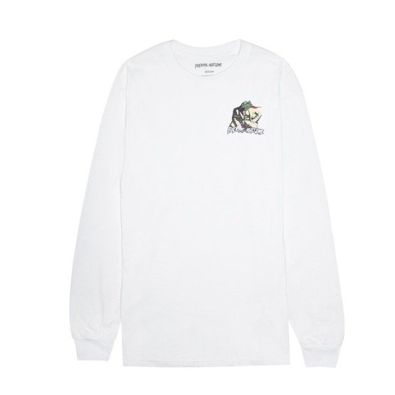 longsleeve fucking awesome frogman l/s tee white