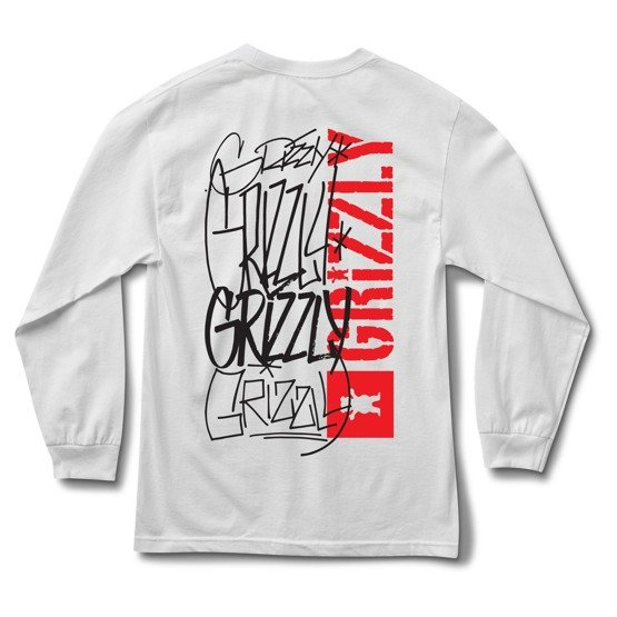 longsleeve grizzly scrawl l/s tee white