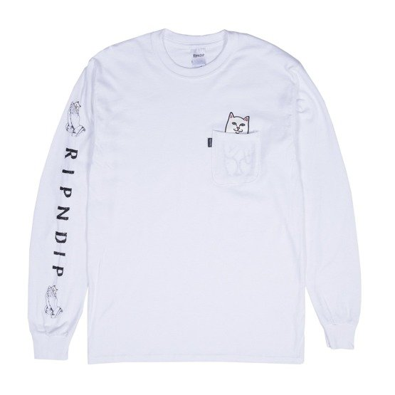 longsleeve ripndip lord nermal pocket white