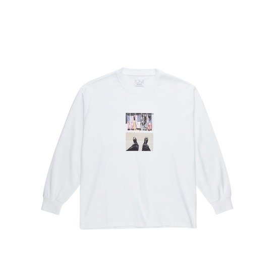 polar HAPPY SAD AROUND THE WORLD LONGSLEEVE white