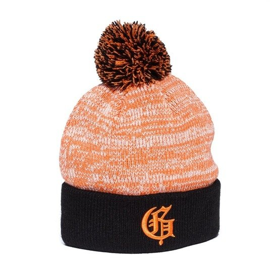 squad g speckled beanie orange