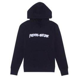 bluza fucking awesome garment dyed chenille logo hoodie anthracite