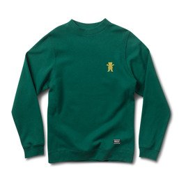 bluza grizzly og bear emb crewneck forrest green yellow