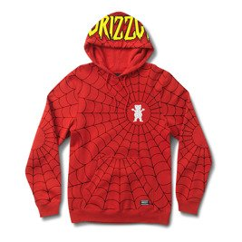 bluza grizzly x spiderman webbed hoodie red