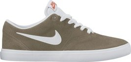 buty nike sb check solarsoft skateboarding shoe  light bone/white-gum light brown