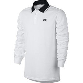 nike sb dry polo  white/black/black